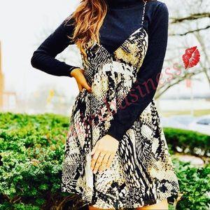 ZARA Animal Print Mini Dress
